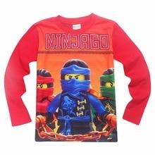 Boys Full Sleeve Kids T-shirt Ninjago T Shirts Children Clothing Cotton Top Tees Boys Girls Kids Costume Boys Clothes 3-10y