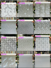2017 60cm*200cm Frosted Privacy Glass Window Film Adhesive Embossed Window Sticker Home Decor Mixed Color Toilet Mirror