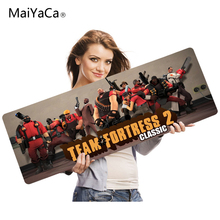MaiYaCa Best Game Team fortress Counter Strike Yellow Light Blue Style Design Mouse Mat Silica gel Gaming Mice Pad 30x60cm(China)