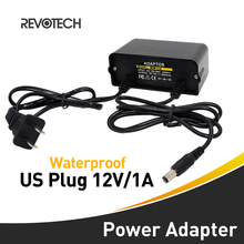 Waterproof AC 100-240V to DC 12V2A  US Plug AC DC Power adapter Charger CCTV Camera Power Supply Adapter