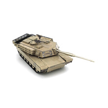 Colorized Abrams main battle tank model laser cutting 3D puzzle DIY metal jigsaw model birthday gifts media of communication toy