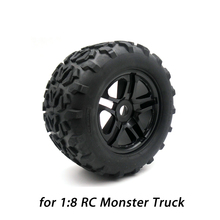 4PCS High Quality Wheel Rim Tires Set for 1:8 Traxxas HSP Tamiya HPI Kyosho RC Monster Truck Car Tyre Parts