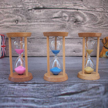 1PCS 3minutes Desktop Clock Small Ornaments Creative Gifts Modern Wooden Sand Clock Timers Brushing Teeth Hourglass Timer