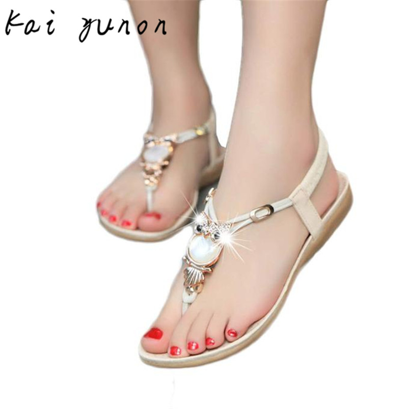 kai yunon Women Rhinestone Owl Sweet Sandals Clip Toe Sandals Beach Shoes 41 Sep 15<br><br>Aliexpress