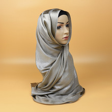 Hijab Cap Islamic Headband Hat Solid Color  Full coverag Golden Wire Shinning scarf Muslim Women Scarf Nice Arabic Luxury brand
