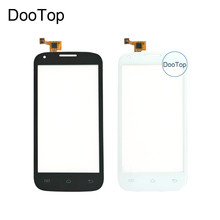 Top Quality For FLY IQ4406 Capacitive Touch screen Digitizer front replacement Black / white Color(China)