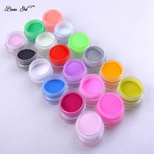 Beau Gel 18 Colors Manicure Acrylic Powder 1set UV Nail Art Polymer Builder New Carving Pattern Decoration Powder Kit(China)