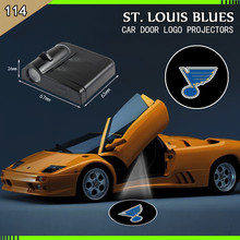 2PCS st louis blues WIRELESS LED CAR DOOR PROJECTORS Welcome lights(China)