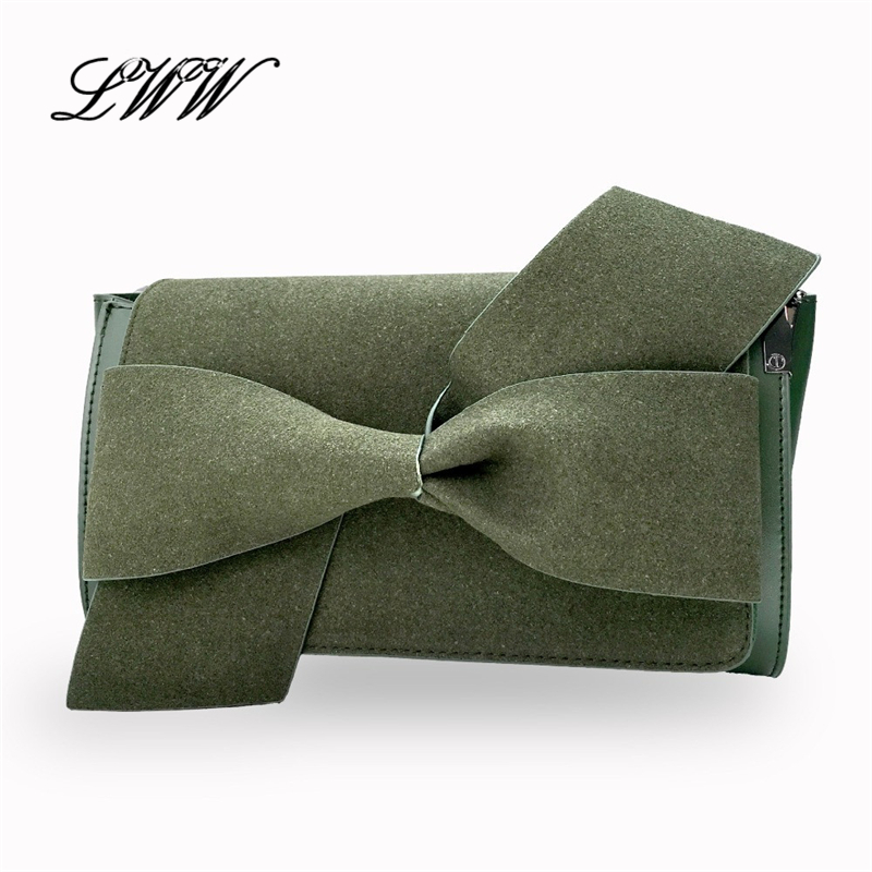 Big Bow Clutches Fashion Vintage Casual Ladies Clutch Women Bag Solid Shoulder Cute Crossbody Bags with Removable Shoulder Strap<br><br>Aliexpress