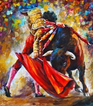 New arrival wall decor craft about matador Oil Painting on Canvas Abstract  Wall Art for Home Decoration no frame A123