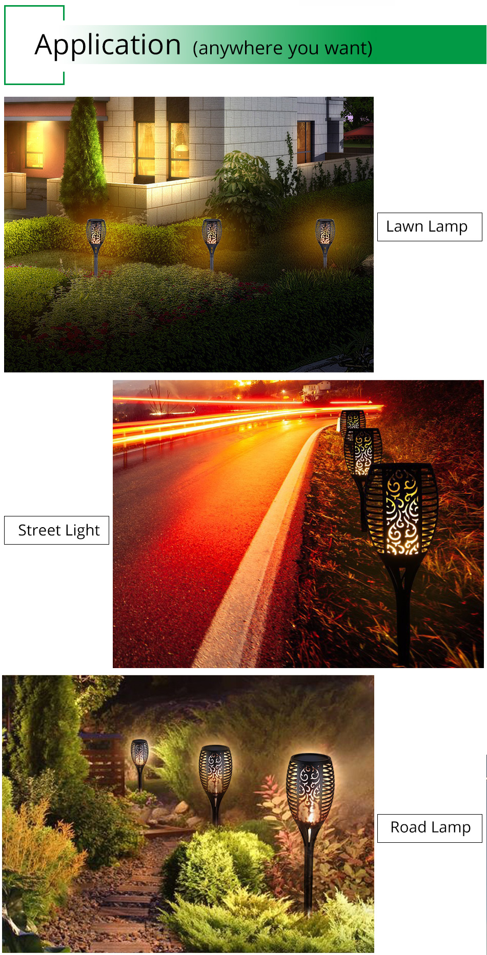 LED Flame Lamp Solar Waterproof Lawn Light Dancing Flickering Torch Lights Garden Outdoor Landscape Decorative Path Lighting (12)