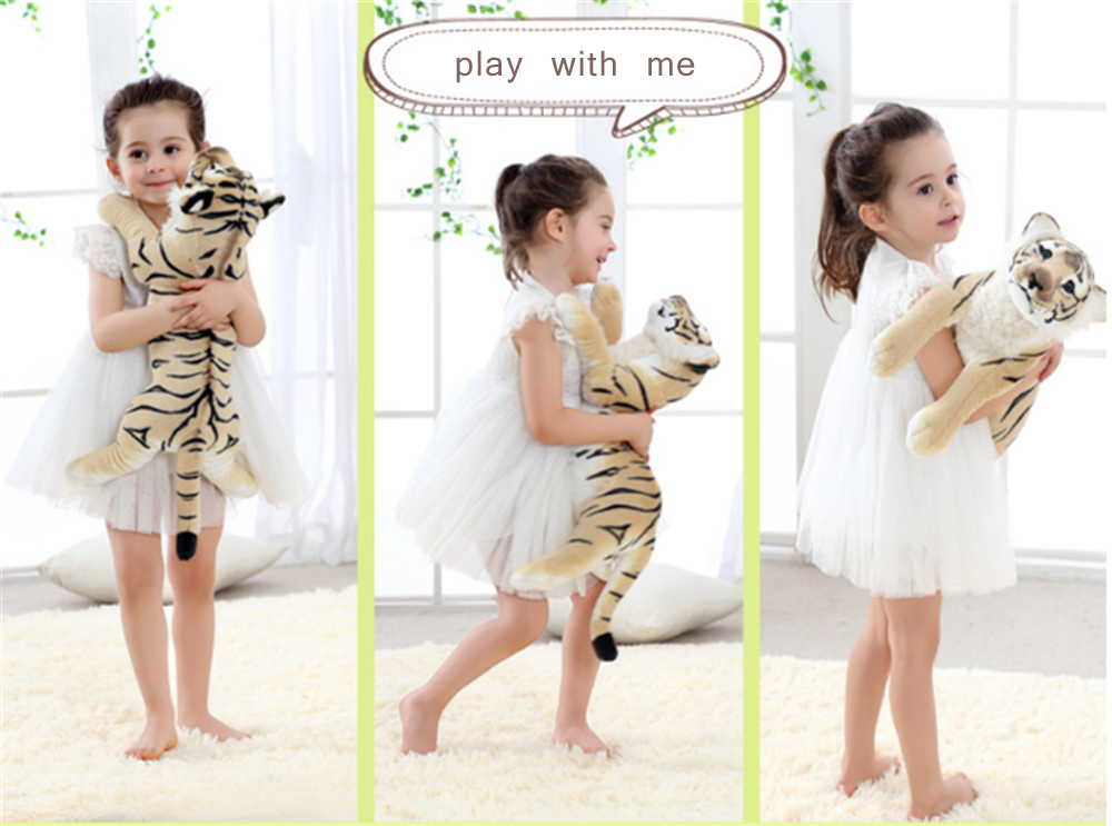 Fancytrader Soft Stuffed Animals Tiger Plush Toys Pillow Simulated Animal Baby Tiger Leopard Doll Brinquedo Toys For Children8