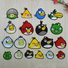 100 pcs/lot MOST FREE SHIPPING Embroidery Patches ANGRY BIRD DECORATION clothing Hat phone Applique art diy sewing accessories(China)