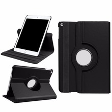Case for New iPad 2017 9.7 360 Degree Rotating Stand Smart Cover with Auto Wake / Sleep PU Leather Case for iPad 9.7 inch 2017(China)