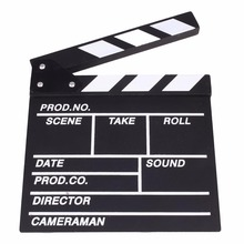 Gizcam New Wooden Director Video Scene Clapperboard Movie Cute Classical Clapper Board Party Film Action Slate Cut Props 20x20cm(China)