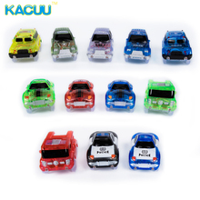 KACUU Tracks Cars Race Track Car In Toy Vehicle LED Light Electronics Car Tracks Toy Parts Car for Children Boys Birthday Gift(China)