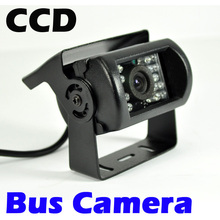 12/24V Bus & Truck Car Rear View Camera Reverse Backup Review Reversing Parking Kit CCD IR LED Night Vision Waterproof