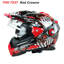 THH Helmets motocross road helmet capacete casco moto racing motorcycle full face helmets windshield DOT - VCOROS Motorcycle Sport store
