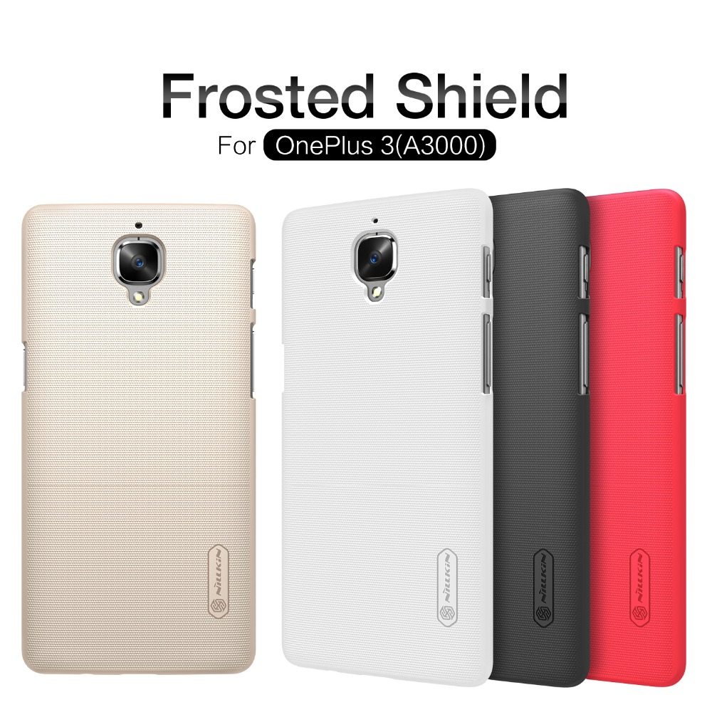 Oneplus 3 Case Oneplus 3T Case NILLKIN Frosted Shield Hard Back Cover Oneplus 3 A3000 Case Cover Free Screen Protector