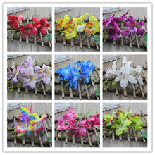 1pcs Wedding Phalaenopsis Butterfly Moth Orchid Fake Orchids Flower for home Centerpieces Decorative Artificial Flowers(China)