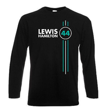Japanese Anime Summer Costumes Lewis Hamilton Number 44 Mens Long Sleeve T Shirt Formula 1 Driver Tops Tees(China)