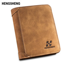 HENGSHENG New Fashion Brand Wallet Men Wallet Men Purse Billfold Nubuck Leather Multifunctional Business ID & Card holders 1133