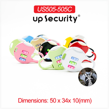 Mini combination lock for bag cabinet zipper car cover door locks padlock 505C