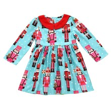 2017 Children Girls Winter Long Sleeve Dresses Baby Girls' Dress Christmas Dress Long Sleeve Baby Girl Princess Christmas Dress