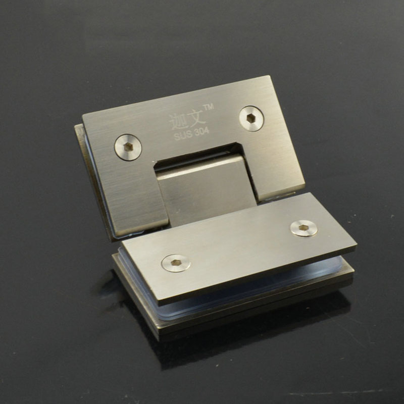 Angle 135 Solid stainless steel glass door hinge h...