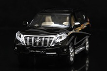 Diecast Car Model Toyota Land Cruiser 2016 Prado Decal 1:32 Can Pull Back (Black) + SMALL GIFT!!!!!!