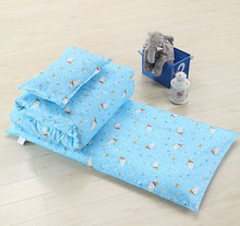 3Pcs Baby Bedding Set for Crib Newborn Baby Bed Linens 100% Cotton Set Include Pillow Case+Bed Sheet+Duvet Cover Without Filling