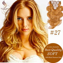 8A Mink Natural Hair Honey Blonde Clip In Human Extensions Real Remy Human Hair Extensions 14-24 Human Hair Clip In Extensions