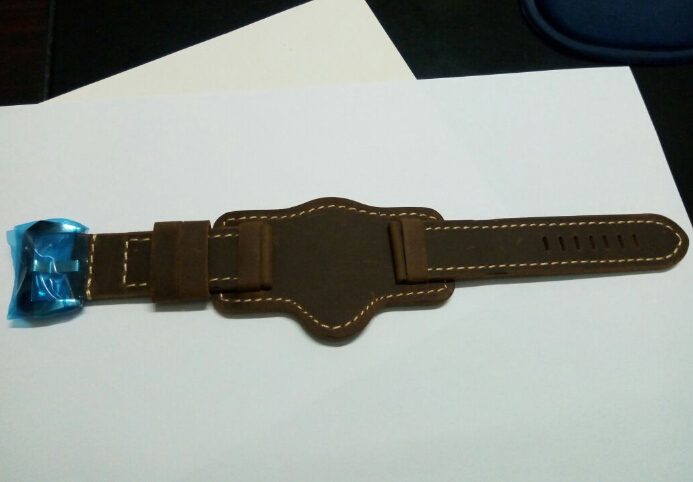 24mm Dark brown cow Leather Strap fit  parnis Vintage Classic watch 0240<br>