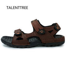 Big Size 45 Mens Sandals Genuine Leather Summer Beach Dress Mens Fashion Sandals  Outdoor Men Shoes dc75fbafd4c5
