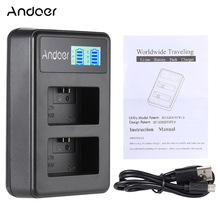 Andoer NP-FW50 Rechargeable LED Display Li-ion Battery Charger 2-Slot with USB Cable for SONY Alpha A7 A7R A7S A5000 A6000 ect