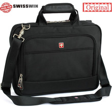 Swisswin mens swiss briefcase bag gear business handbag high quality messenger bags laptop shoulder bag for Macbook HP sw9723(China)