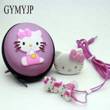 Dimensional Hello Kitty mini MP3 Music Player  Support TF Card With Hello Kitty Earphone hello kitty bag and cable