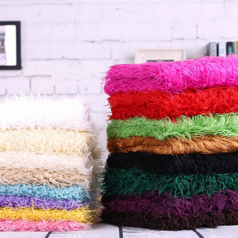 Entertainment Memorabilia Mongolian Curly Sheep Faux Fur Fabric Newborn Baby Photography Props Faux Wool Basket Stuffer Blanket Rug Backdrop Size 100x75cm In Many Styles