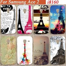 Style Print pattern Eiffel Towers desing hard Case Cover For Samsung Galaxy Ace 2 II i8160 8160 diy colorful pattern case(China)