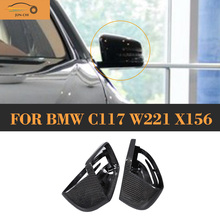 Replacement Carbon car side mirror Covers Mercedes Benz W176 W246 W204 C117 W218 W212 W207 X156 X204 W221 - JUN-CHI Official Store store