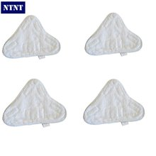 NTNT New 4 QTY Velcro Microfibre Steam Mop Floor Pads For H20 5X Clean Mop - Washable