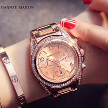 Rose Gold Luxury Brand HM Women Fashion Watches 2016 Reloj Mujer Men's Quartz Casual Wristwatch Montre Femme Marque De Luxe(China)