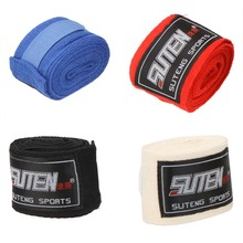 2pcs/roll Width 5cm Length 2.5M 100% Cotton Sports Strap Sanda Muay Thai MMA Taekwondo Boxing Bandage Hand Wraps(China)
