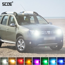 SCOE For Dacia Duster 2015 New High Quality 2X 30SMD LED Front Parking Light  Day Time Running Light DRL Car Styling 8 Colours