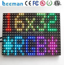 2018 2017 Leeman RGB 3in1 indoor P6 LED module --- outdoor p6,p10,p12,p16,p20 folding led display\/moving LED curtain\/wall
