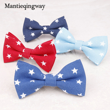 Fashion Plaid Print Child Bow Tie Unisex Dots Baby Boy Cartoon Collar Bowtie Cravat Skinny Neck Tie For Suits Five-Stars Bowtie(China)