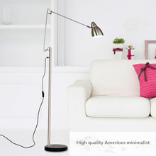 Superior quality American style LED folding rotary floor lamp light office work and study lamp bedroom living room study(China)