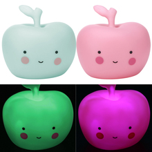 Mini LED Night Light Kid Baby Bedside Moon Light Apple Table Lamp Creative Christmas Gifts for Children Kids Bedroom Decoration(China)