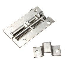 Newest 50mm Stainless Steel Door Latch Barrel Bolt Latch Hasp Stapler Gate Lock Safety 6 Size 35/50/75/100/125mm(China)