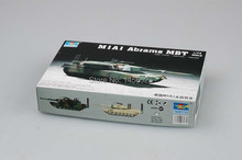 TRUMPETER 07276 1/72 M1A1 Abrams MBT Assembly Model kits scale model 3D puzzle vehicle model(China)
